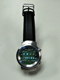 Binary watch - 12:23